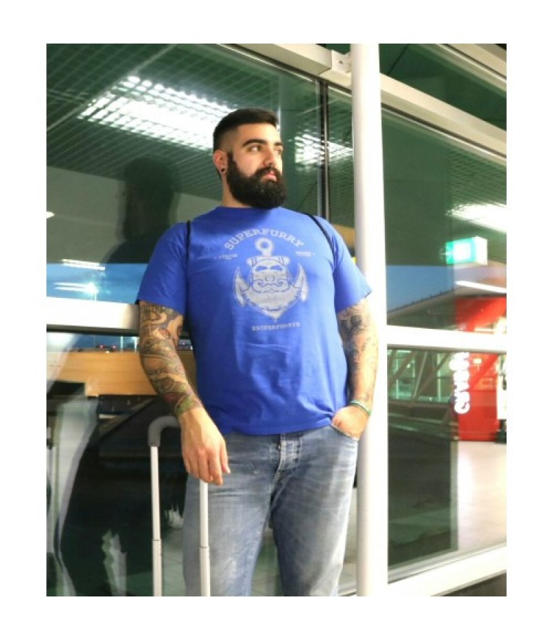 SUPERFURRY T-SHIRT ROYAL BLUE